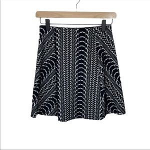 Zara Trafaluc Textured Mini Skirt M New